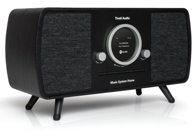 Tivoli Audio music system plus i sort fra siden