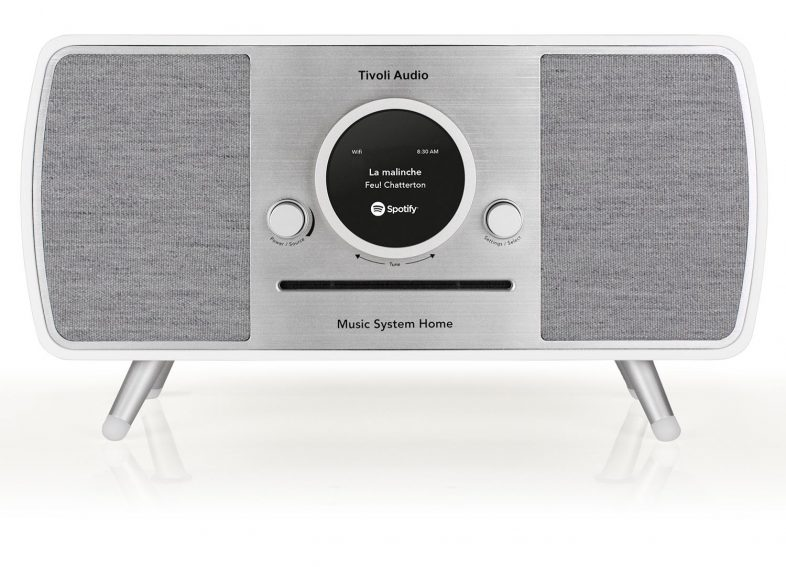 Tivoli Audio music system i hvid front