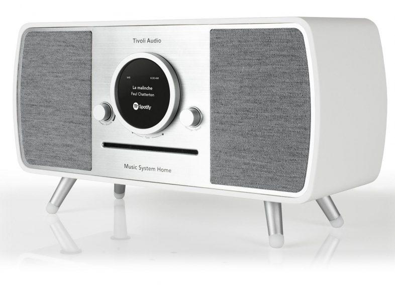 Tivoli Audio music system i hvid fra siden