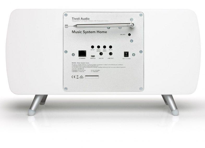 Tivoli Audio music system+ bagfra med kabelindgang