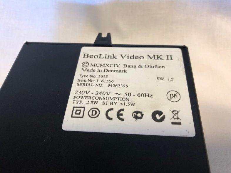 Beolink video mk2 mærkat
