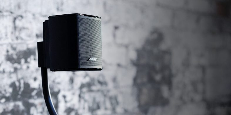 Bose virtually invisible surround højttaler på gulvstand