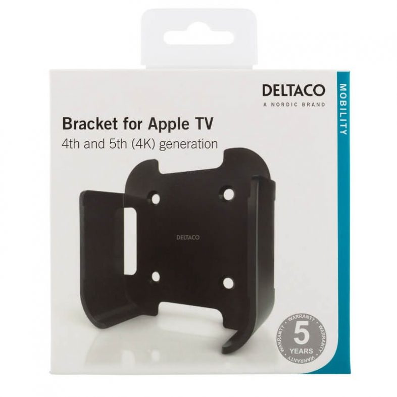 Deltaco vægbeslag til Apple tv i indpakning