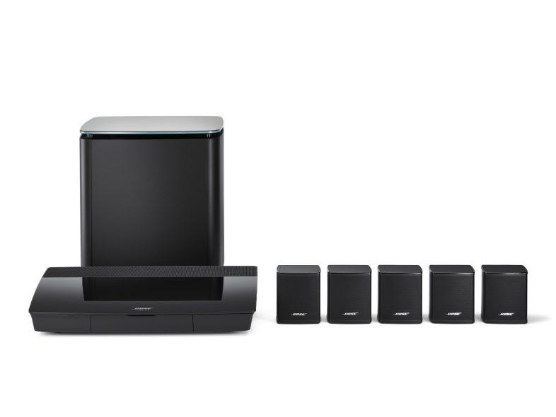 Bose lifestyle 550 komplet sæt i sort med højttalere og subwoofer