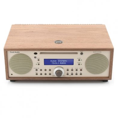 Tivoli Audio music system plus walnut beige fra toppen