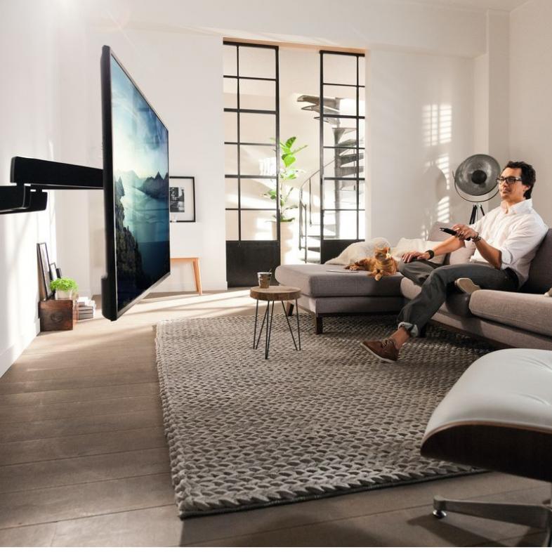 Vogels NEXT 7355 lifestyle fjernsyn på væggen