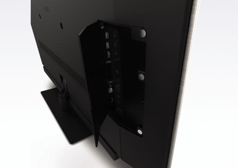 Loewe bild 2 fra siden med kabel-indgang