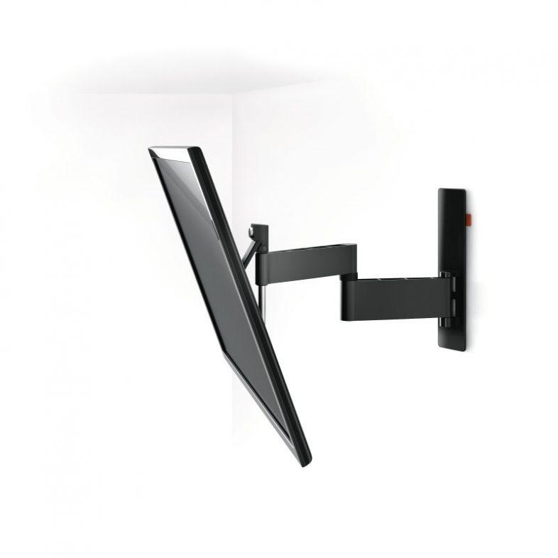 Vogels wall 3345 sort med fjernsyn monteret